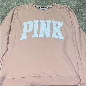Light pink PINK crew neck